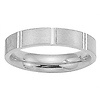 4mm 14K White Gold Flat Comfort Fit Benchmark Band