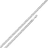 Concave Curb Sterling Silver Chain Necklace 3mm