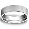 6mm Flat Satin Comfort Fit Benchmark Platinum Ring