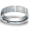 6mm Platinum Flat Comfort Fit Satin Benchmark Band