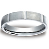 4mm Platinum Flat Comfort Fit Band