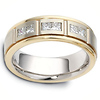 Channel Set Princess Diamond 14K Two Tone Gold Dora Wedding Band