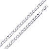 4mm Concave Curb Cuban Sterling Silver Chain Necklace