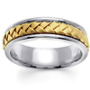 7mm 14K Two Tone Woven Handmade Band