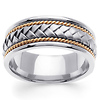 8.5mm Handmade Rope & Braided 14K Two Tone Gold Men's Band