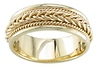 7mm 14k Yellow Gold Braided Handmade Band