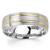 6.5mm Double Channel 14K Two Tone Gold Men's Wedding Band