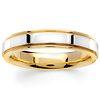 4.5mm Milgrain 14K Two Tone Gold Band