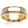 6.5mm Milgrain 14K Two Tone Gold Band