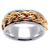 10mm 14k Two Tone Braided Band