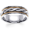 7mm 14k Two Tone Braided Band