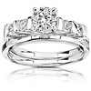 0.50ct 14K White Gold Prong Set Engagement Ring