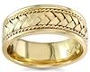 8.5mm Handmade 14K Yellow Gold Rope & Braided Wedding Band