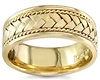 8.5mm Handmade 14K Yellow Gold Rope & Braided Wedding Band