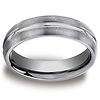 6mm Tungsten Designer Comfort Fit Benchmark Wedding Band
