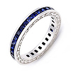 Signature Edge Blue Sapphire Eternity Band (1.8 ct.)