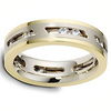 14K Two Tone Gold Dora Moving Diamond Wedding Ring, 0.54 tcw