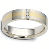 3 Stone Diamond 0.04 tcw 14K Two Tone Dora Wedding Band