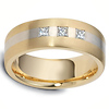 18K Two Tone Stripe Dora Diamond Wedding Band