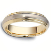 5.50 mm 14K Two Tone Dora Gold Wedding Band