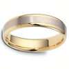 5.00 mm 14K Two Tone Wedding Band