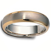 14K Two Tone Gold 6.00 mm Wedding Band