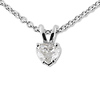 14K White Gold 0.25ct Solitaire Diamond Heart Pendant