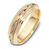 6.00 mm 14K Tri Color Woven Dora Wedding Band