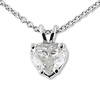 White Gold 0.75ct Solitaire Heart-Cut Diamond Pendant