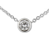 0.17ct Round Diamond Bezel Set Platinum Solitaire Pendant