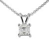 0.75ct Asscher Cut 4 Prong Solitaire Pendant