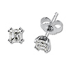 14K 1.00ct Asscher Cut Diamond Stud Earrings