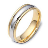 6.00mm Dora 14K Two Tone Gold Wedding Band