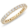 14K Yellow Gold 1.00ctw Pav� Set Diamond Eternity Ring