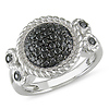 Sterling Silver 0.50 ctw Black Diamond Fashion Ring