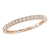 1/4 CT Diamond TW Stacked Ring 10K Pink Gold