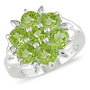 Sterling Silver 3.50 CT TGW Peridot Cocktail Ring