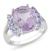 Sterling Silver 4.50 CT TGW Amethyst Tanzanite Fashion Ring