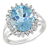 Sterling Silver 5.88 CT TGW Blue & White Topaz Fashion Ring
