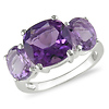 Sterling Silver 5.50 CT TGW Amethyst Fashion Ring