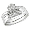 1/7 CT Diamond TW Engagement Ring 14k White Gold GHI I3