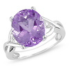 Sterling Silver 4 CT TGW Amethyst & Diamond Fashion Ring