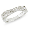 Sterling Silver Overlap Bypass Diamond Ring Band