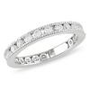 Sterling Silver 2mm CZ Eternity Band