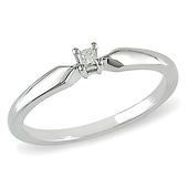 Princess Diamond Solitaire Ring