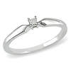 Sterling Silver 0.05 ct Princess Diamond Solitaire Ring