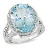 White & Sky Blue Topaz Cocktail Ring in Sterling Silver