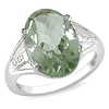 Sterling Silver 5.07 CT TGW Green Amethyst & White Topaz Ring