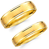 Satin Finish 14K Yellow Gold Matching Wedding Bands