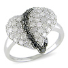 1 ctw Sterling Silver Diamond Heart Ring